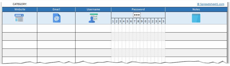 Network Spreadsheet Template from spreadsheet1.com