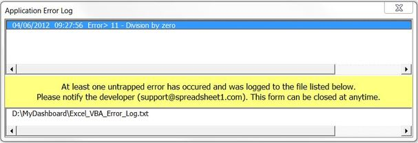 Excel Error Log: How Excel VBA Errors Are Handled And Logged In A Text File
