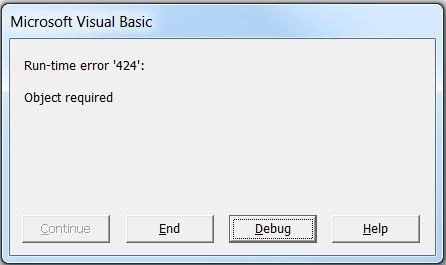 Vba stop on error resume next