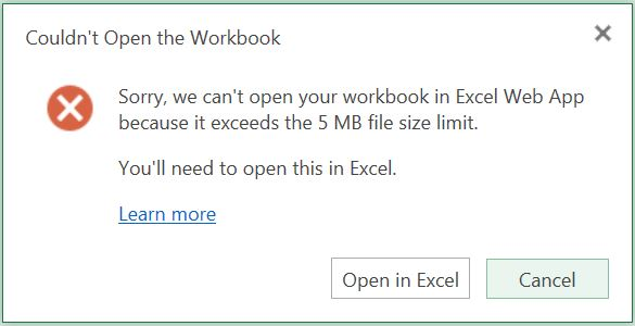 How to use Excel in a web browser