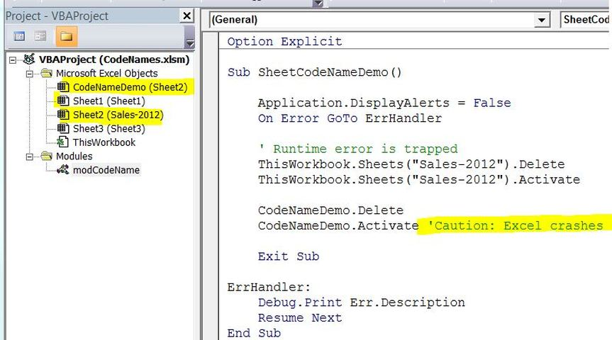Worksheets Activate Worksheet Vba vba codenames spreadsheet1 excel in your office codename pitfall how to rename a sheet codename