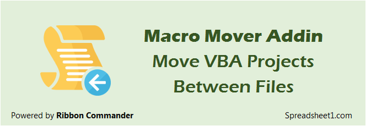 Move Office VBA Projects Between Files