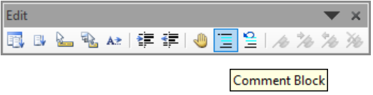 How To Comment Blocks Of VBA Code